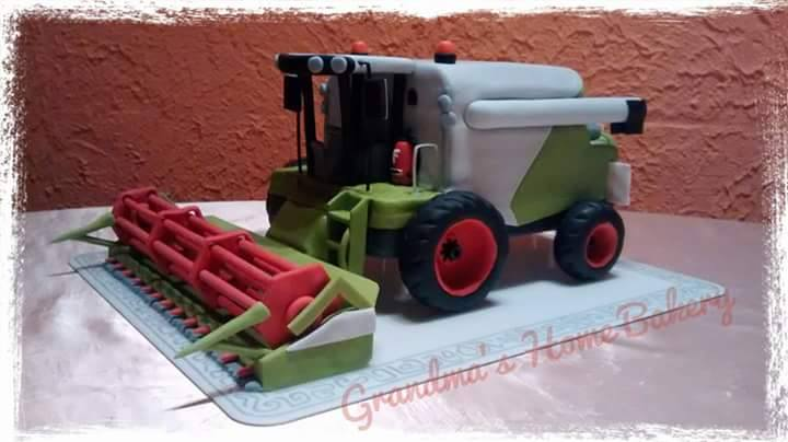 Combine Harvester Cake by Birgit Fiedler