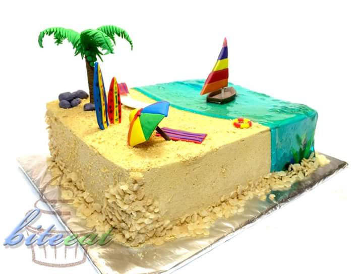 Haydey Mao Garcias Beach Themed Cake Amazing Cake Ideas