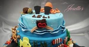 Josette Magri's Beach Themed Cake