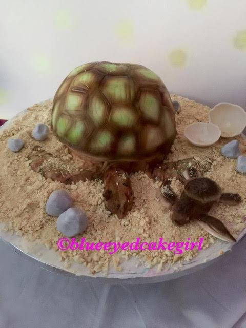 Mama and Baby Turtle Cake by Leantine Le Blanc