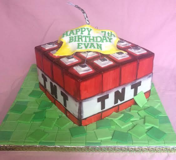 Minecraft TNT Cake by Riza Badilla