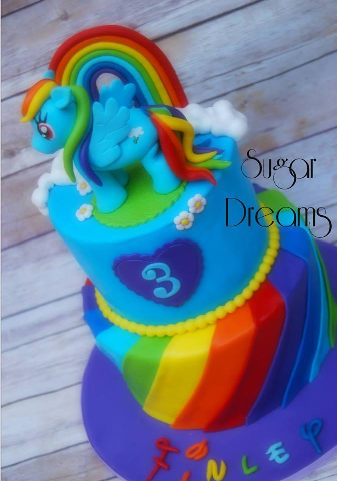 Pony Themed Cake by Sugar Dreams