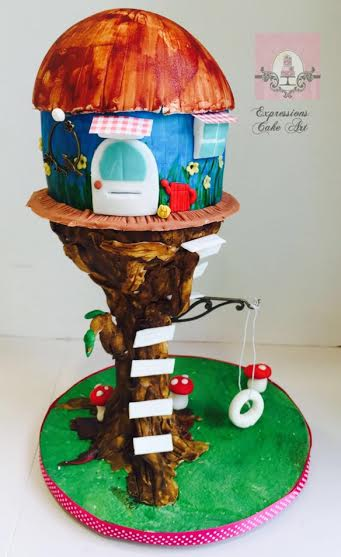 Tree House Cake by Su from Expressions Cake Art