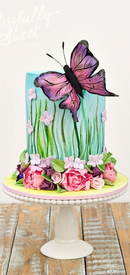 Butterfly Garden Cake Amazing Cake Ideas