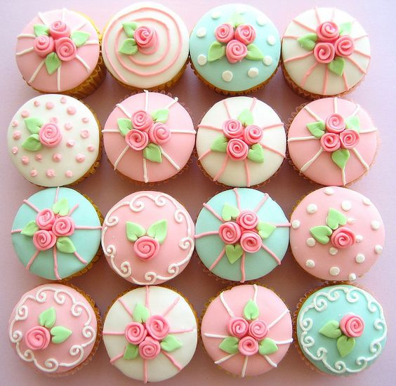Rose Cupcakes Photo by hello naomi on Flickr