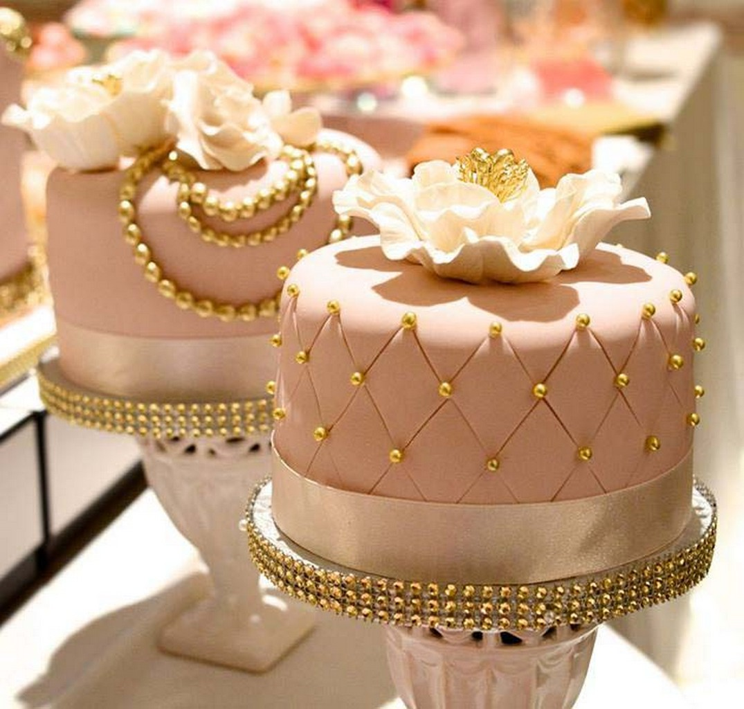 Pink Black White Wedding Cakes