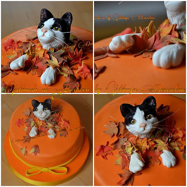 Lovely Cat Cake by Monja Demartini