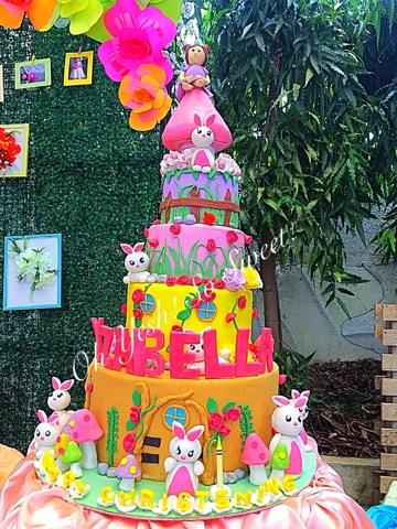 Enchanted Themed Cake with Bunny Topper by Lady Jane Tandayu Muceros of Oh Yesh!